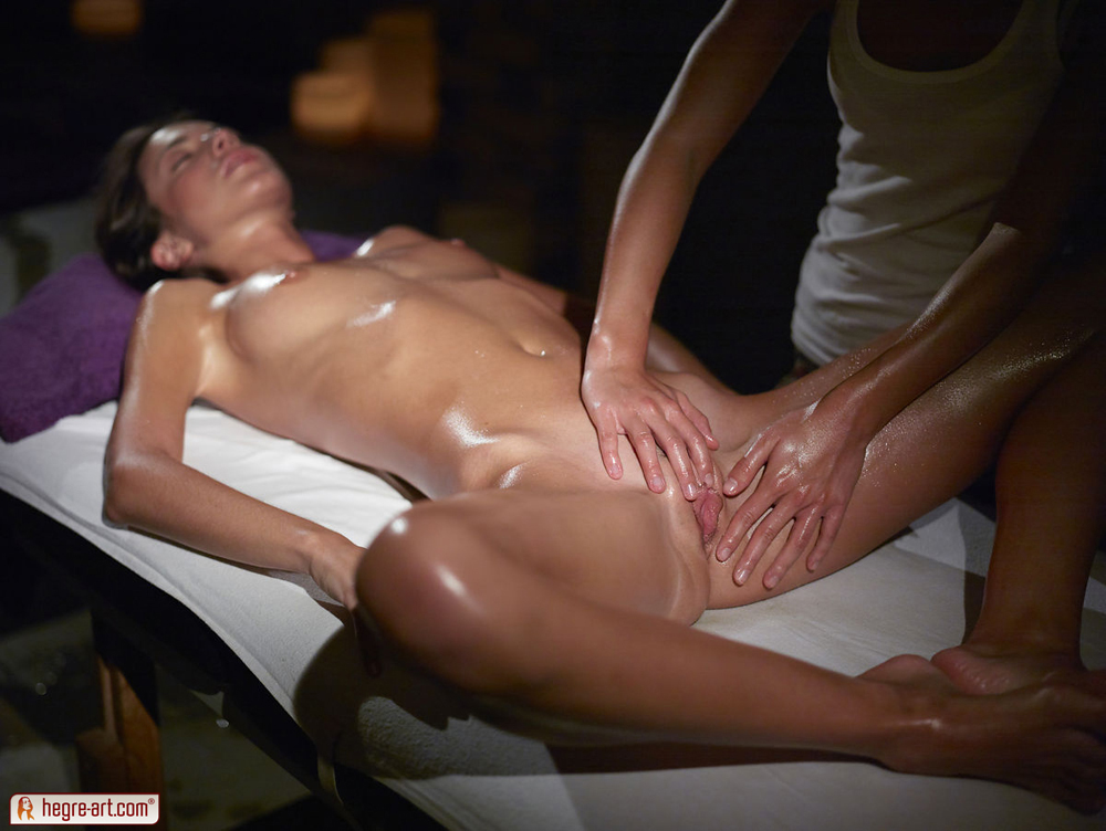 image Erotic massage for naked young girl