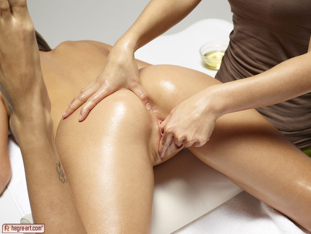 Lesbian Sex During Massage
