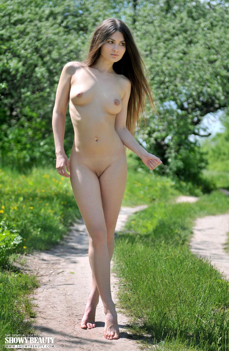 Boy nude girl with long hair