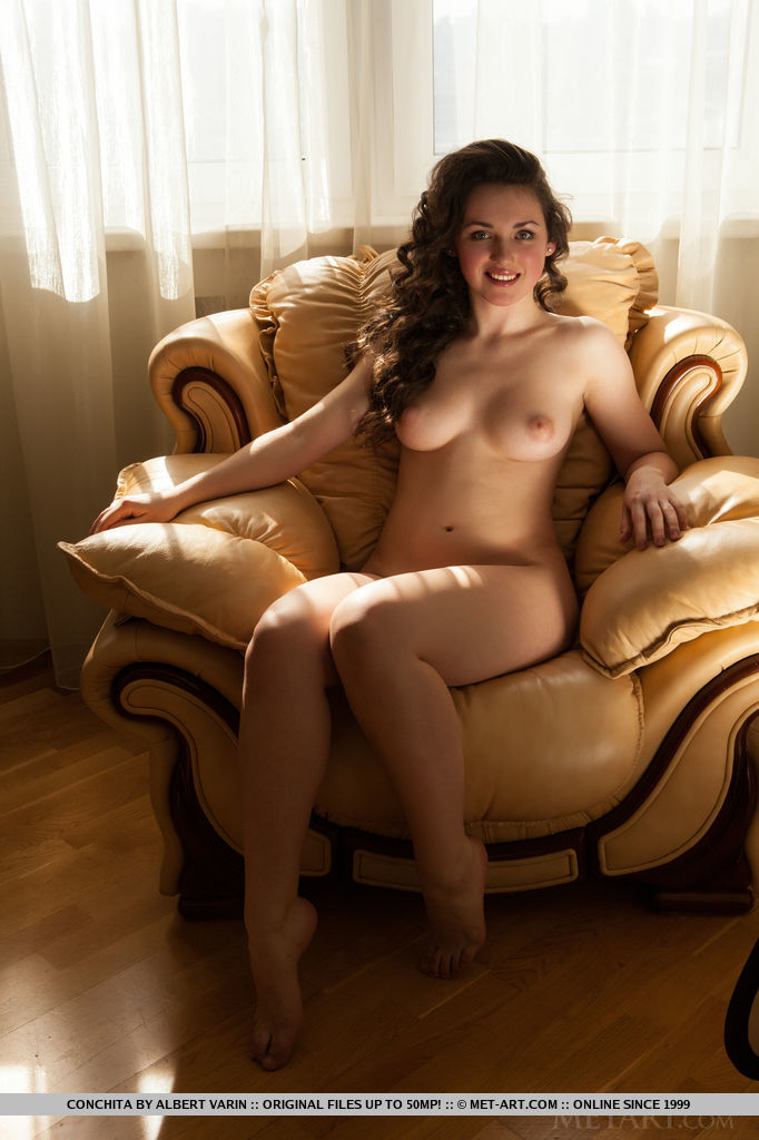 Nude girl on couch