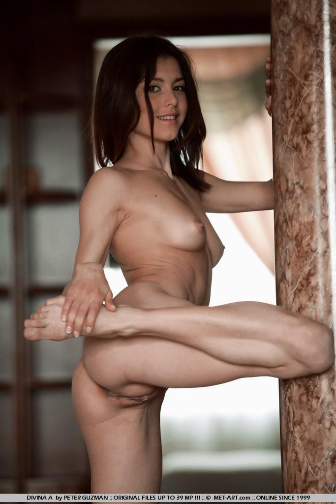 sexy nude brunette wife