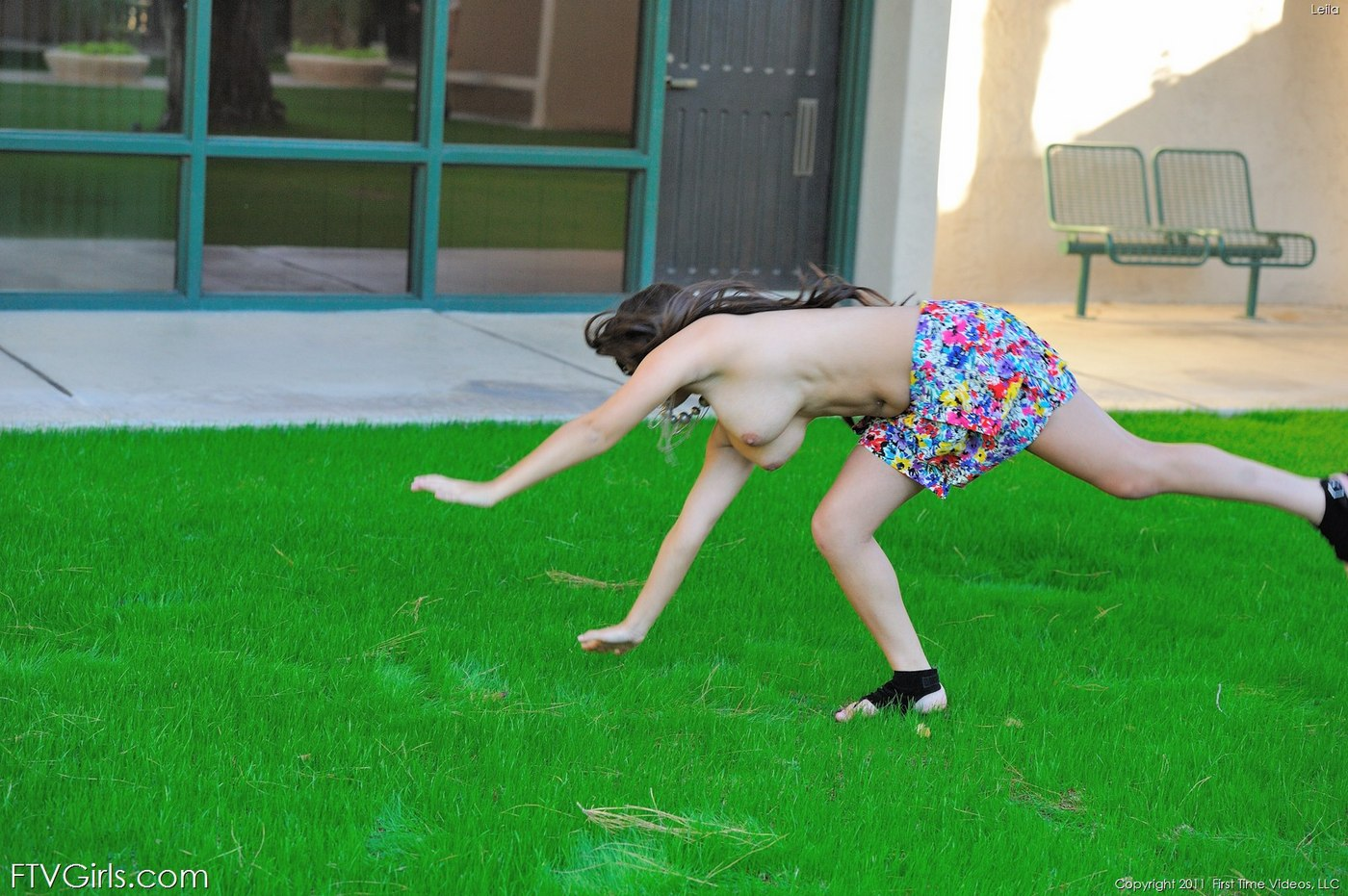 young teens doing cartwheel in the nude