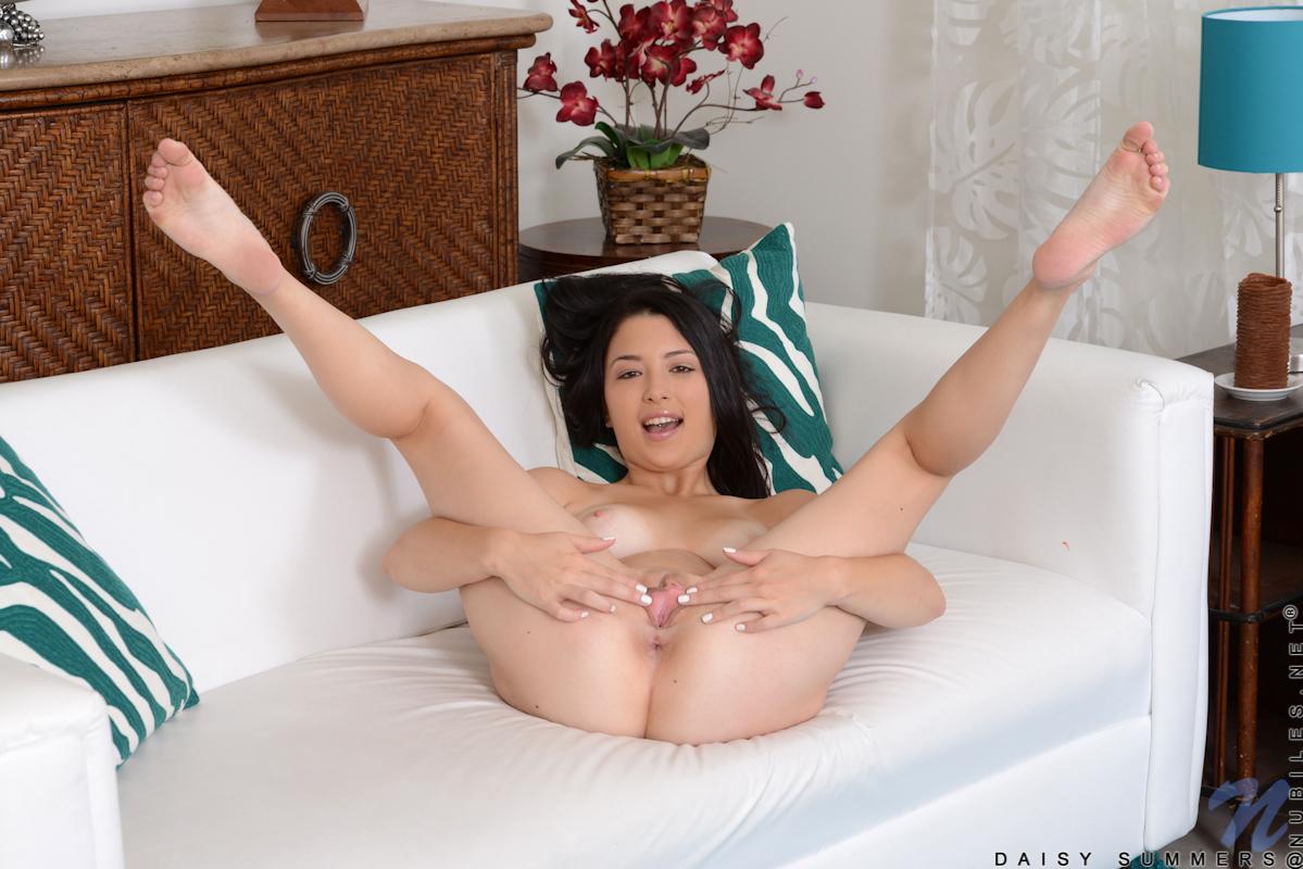 Kneeling girl spread legs