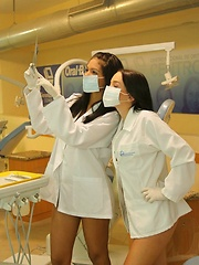 Erotic picture of Karla and her friend Gaby play doctor with each other